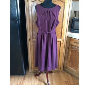 Elle Tie Belt Waist Dress Size 16